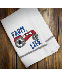Tractor Farm Life Embroidery Design