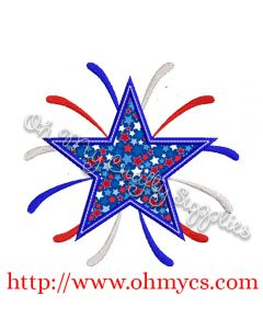 Firework Star Applique Design