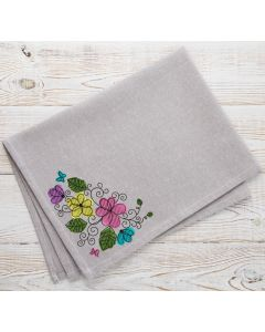 Blended Floral Flowers Embroidery Design