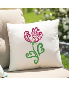 Flower Bird Embroidery Design