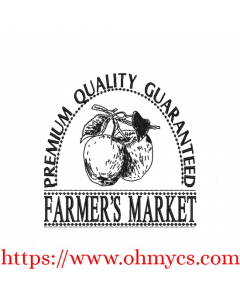 Farmer's Market Apples Embroidery Design