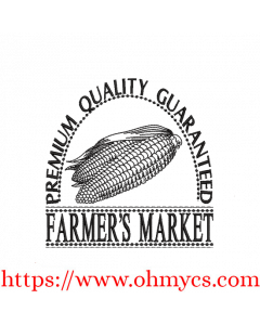 Farmer's Market Corn Embroidery Design