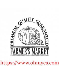 Farmer's Market Pumpkin Embroidery Design