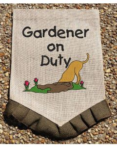 Gardener on Duty Sketchy Embrodery Design