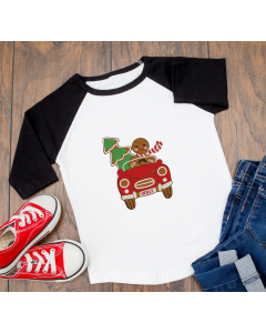 Gingerbread Car Embroidery Design