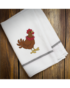 Goofy Rooster Embroidery Design
