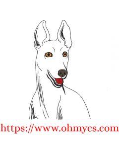 Greyhound Sketch Embroidery Design