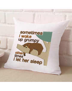 Wake Up Grumpy Bear (HER VERSION) Embroidery Design