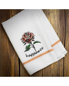 Happiness Flower Embroidery Design