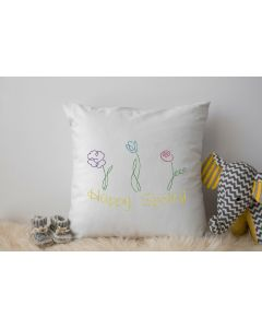 Happy Spring Drawing Embroidery Design
