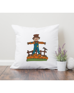 Pumpkin Harvest Scarecrow Embroidery Design
