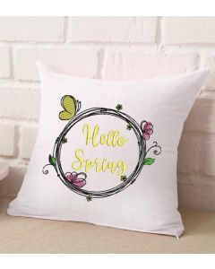 Spring Flowers Wreath Embroidery Design