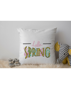 Hello Spring with Satin Embroidery Design