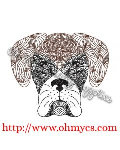 Henna Boxer Embroidery Design