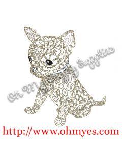 Henna Chihuahua Embroidery Design