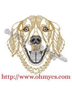 Golden Retriver Embroidery Design