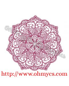 Henna Floral Lace Embroidery Design