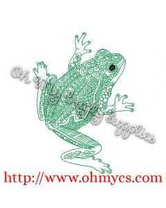 Henna Frog Embroidery Design