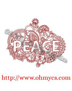 Henna Peace Embroidery Design