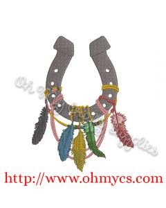 Boho Chic Horse Shoe Embroidery Design