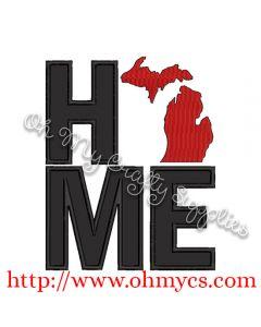Home Michigan Applique Design