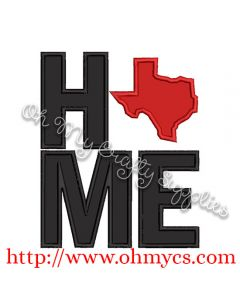 Home Texas Applique Design