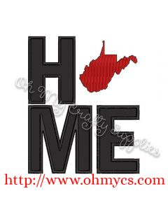 Home West Virginia Applique Design