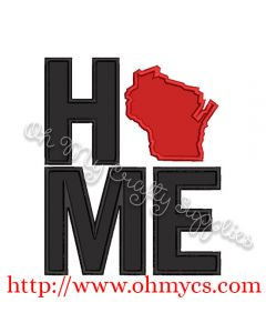 Home Wisconsin Applique Design