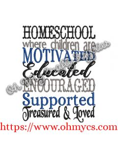Homeschool Embroidery Design