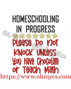 Homeschooling Chocolate Embroidery Design