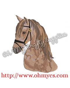 Realistic Solid Stitch Horse Embroidery Design