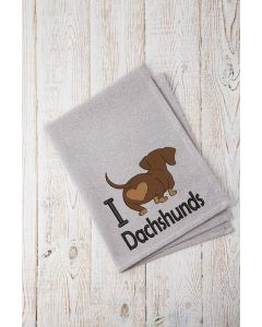 I Heart Dachshunds 2020 Embroidery Design