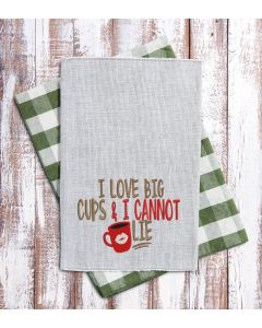I love big cups 2.0 Embroidery Design