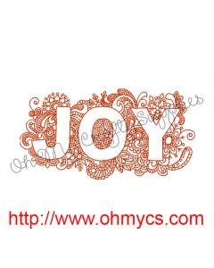 Joy 5x7 Embroidery Design