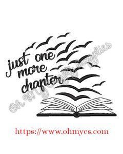 Just One More Chapter Embroidery Design