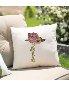 Kindness Flowers Embroidery Design