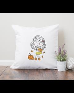 Little Miss Autumn Embroidery Design