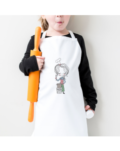 Little Miss Chef Embroidery Design