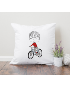 Little Mister on Bike Embroidery Design