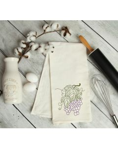 Line Art Grapes Embroidery Design