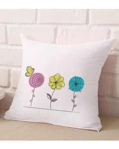 Line Sketch Spring Flowers Embroidery Design