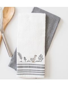 Line Art Duck Embroidery Design