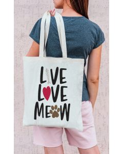 Live Love Meow Embroidery Design