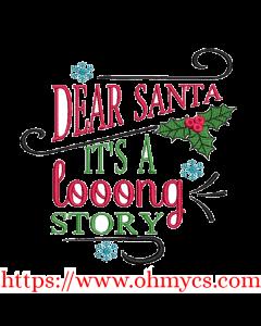 Long Story Santa Embroidery Design