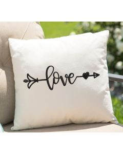 Love Arrow Embroidery Design