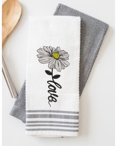 Love Daisy Embroidery Design