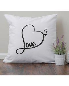 Love Heart Satin Embroidery Design