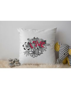 LOVE Scribbles Embroidery Design