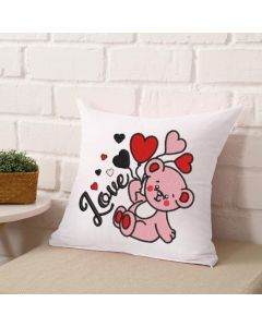 Love Valentine's Bear Embroidery Design