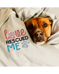 Love Rescued Me Pet Paws Embroidery Design